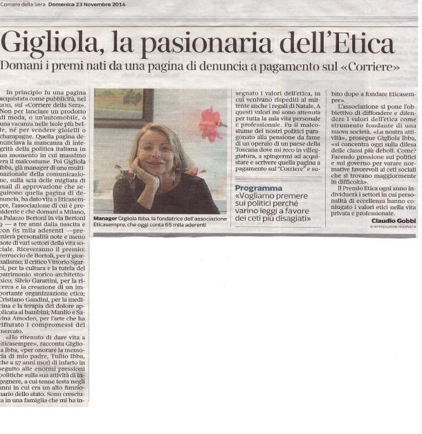 Corriere della Sera 23 novembre 2014