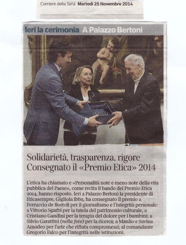 Corriere della Sera 25 novembre 2014